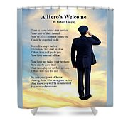A Hero's Welcome - Air Force 1 Shower Curtain