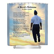 A Hero's Welcome - Air Force 2 Shower Curtain