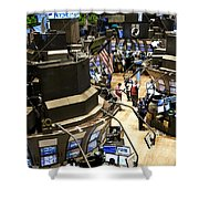 A High Angle View Of The New York Stock Shower Curtain