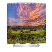 A High Dynamic Range Photo Of A Sunset Shower Curtain