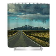 A Highway To The Rockies Shower Curtain