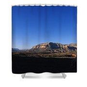 A Hiker Overlooks Tuckup Canyon Shower Curtain