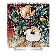A Holiday Bouquet Shower Curtain