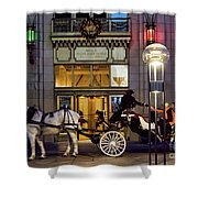 A Holiday Ride Shower Curtain