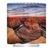 A Horseshoe Bend Morning  Shower Curtain