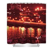 A Hot Night On Biscayne Bay Shower Curtain