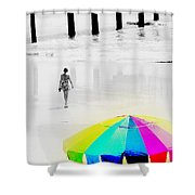 A Hot Summer Day Shower Curtain