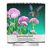 A Hummingbird Visits Shower Curtain