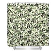 A Hundred Dollar Bill Banknotes Shower Curtain