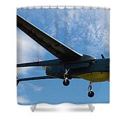 A Hunter Joint Tactical Unmanned Aerial Vehicle Shower Curtain