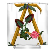 A Is For Art Shower Curtain