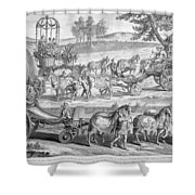 Chariot Of Apollo Shower Curtain