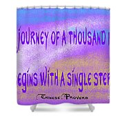 A Journey Shower Curtain