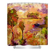 A Joyous Landscape Shower Curtain