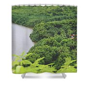 A Jungle Story Shower Curtain