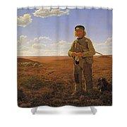 A Jutland Sheperd On The Moors Shower Curtain