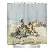 A Kirghiz Gathering Shower Curtain