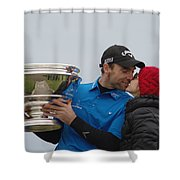 A Kiss For The Winner Shower Curtain