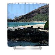 A L O H A  E Ala E Puu Olai Oneloa Big Beach Makena Maui Hawaii Shower Curtain