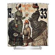 A La Tour St.jacques - Rue De Rivoli - Vintage Fashion Advertising Poster - Paris, France Shower Curtain
