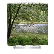 A Lake Near Glendalough Shower Curtain