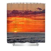 A Lake Sunset Shower Curtain