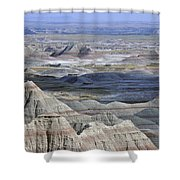 A Landscape Of The Badlands In South Shower Curtain