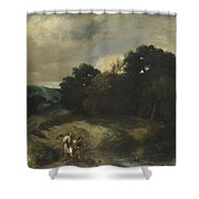 A Landscape With Tobias And The Angel Shower Curtain