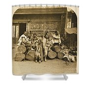 A Large Collection Of Photographs Shower Curtain