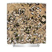 A Large Sahelian Town In Western Mali Shower Curtain