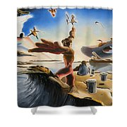A Last Minute Apocalyptic Education Shower Curtain
