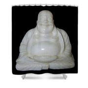 A Laughing Buddha Brings Good Luck Shower Curtain