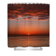A Layer Of Clouds Is Lit By The Rising Shower Curtain