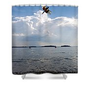 A Leap To Freedom Shower Curtain