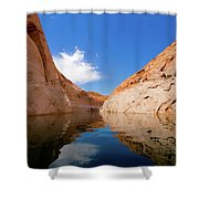 A Leisurely Paddle Shower Curtain