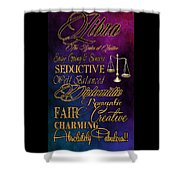 A Libra Is Shower Curtain by Mamie Thornbrue