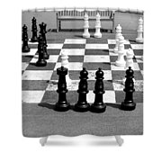 A Life Time Game Of Chess Shower Curtain by Danielle Allard