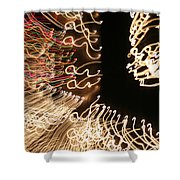 A Light Abstraction Shower Curtain