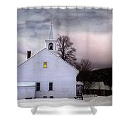 A Light In The Old Church Shower Curtain
