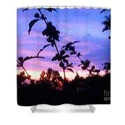 A Lighter Side Of A Sunset Shower Curtain