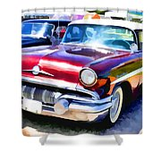 A Line Of Classic Antique Cars 9 Shower Curtain