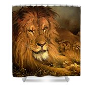 A Lion And A Lioness Shower Curtain