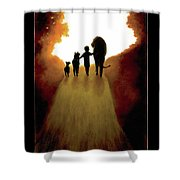 A Little Child Will Lead Them Shower Curtain