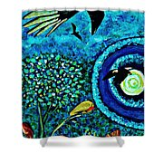 A Little Garden At The Edge Of The World Shower Curtain