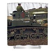 A Little Honey - M3 Stewart Light Tank Shower Curtain