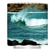 A Little Wave Action Shower Curtain