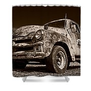 A Little Wear - Sepia Shower Curtain