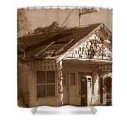 A Little Weathered Gas Station Shower Curtain