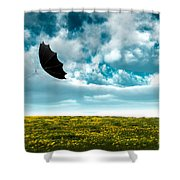 A Little Windy Shower Curtain