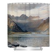 A Loch North Of Hadrian's Wall Shower Curtain by Walter Severn